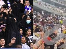 Las mujeres no pudieron entrar al estadio. AFP/ElLarguero