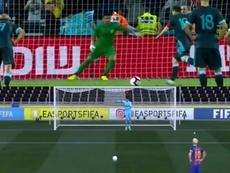 Comparan la acción de Campaña ante Messi... ¡con una del FIFA! Captura/TyCSports