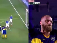 De Rossi scores on Boca Juniors debut. Capturas/TyCSports