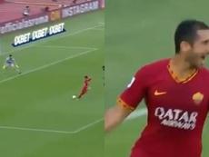 Debutó y besó el santo: estreno goleador de Mkhitaryan. Capturas/Movistar