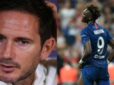Lampard apoya a Tammy Abraham y condena los insultos racistas. Montaje/AFP