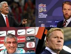 Montaje Petkovic, Santos, Koeman y Southgate se verán las caras en Portugal. AFP