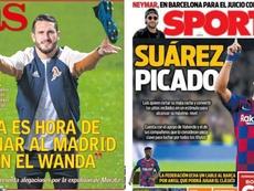 Les Unes des journaux sportifs en Espagne du 27/09/2019. Montage/AS/Sport