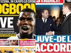 'Bombazos' de verano: en Italia ya ven a Pogba y De Ligt en la Juve. Corriere dello Sport/Tuttosport