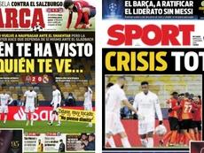 As capas da imprensa esportiva de 2 de dezembro de 2020. Marca/Sport