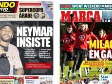 Les Unes des journaux sportifs en Espagne du 12 novembre 2019. MD/Marca