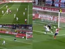 Giffard se puso el nivel del mejor Oblak para eliminar al Atlético. Capturas/DAZN