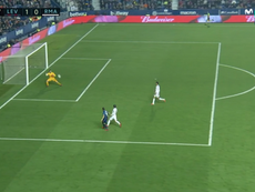 Morales hizo el 1-0 ante el Real Madrid. Captura/MovistarLaLiga