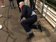 Mourinho chegando ao estádio. cfc_fantv