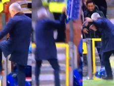 Mourinho a perdu les pédales sur le but de Fellaini. Capture/Movistar