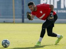Munir ya es uno más tras volver de Marruecos. MalagaCF