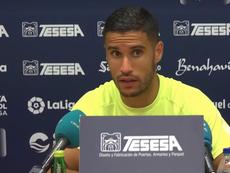 Munir analiza la situación del Málaga. Captura/MCFTV