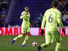 Murillo vio su tercera amarilla en Copa. FCBarcelona