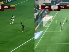 Murillo anotó un golazo de dudosa intención. Captura/LaTeleTuya