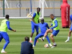 Kanté por fin se ejercitó con sus compañeros. ChelseaFC