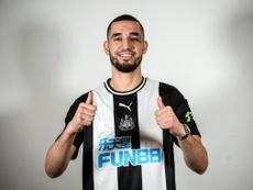 Bentaleb vuelve a la Premier. Twitter/NUFC