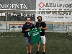 Nano Modrego confirmó su fichaje por el CD Cuarte de la Tercera División. Twitter/nanomodrego