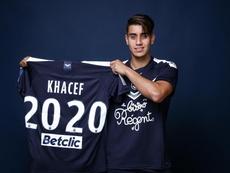 Khacef cambió de colores. Twitter/girondins