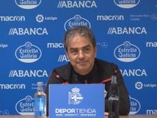 Natxo González analizó el duelo ante el Nàstic, terminado en empate. Twitter/RCDeportivo
