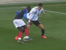 Nehuén jugó contra Francia; espera su turno para debutar con el Atlético. Captura