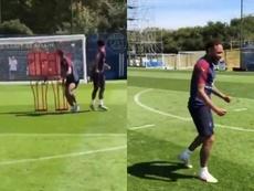 O golaço de Neymar para colocar medo no Atalanta. Captura/PSG
