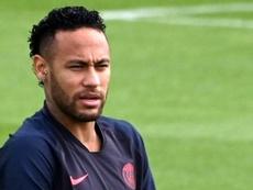 Message de Neymar sur Instagram. AFP