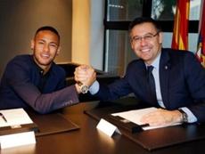 Les dernières cartes de Bartomeu pour Neymar. EFE