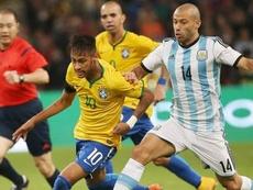 Brasil está no pódio do ranking de seleções da FIFA. EFE/Ernesto Guzmán Jr.