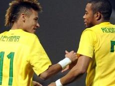 Robinho quer ver Neymar no Bernabéu. AFP