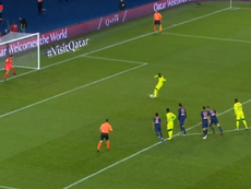 Nicholas Pepe smashed in a penalty for Lille. Captura/CanalSport