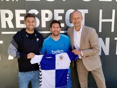 Deseo concedido: cumplió su objetivo y conoció a Leo Messi. Twitter/nico_delmonte_5
