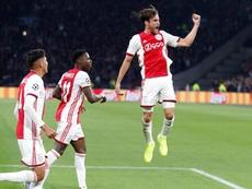 Tagliafico spoke about the 1-4 win at Bernabeu. AFP