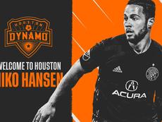 Hansen a rejoint Houston. HoustonDynamo