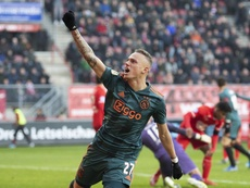 Susto, remontada y manita del Ajax. Twitter/AFCAjax