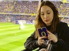 La funda de móvil de la mujer del 'Pipa' con mensaje... ¡para River! Instagram/noeliabpons