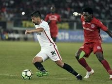 El Sevilla hace de Scar ante el Rey León. Captura/beINSports