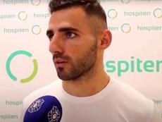 Nono habló como nuevo jugador del Tenerife. Captura/CDTenerife