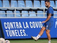 El Tenerife pierde a Nono para la Copa. Twitter/CDTenerife