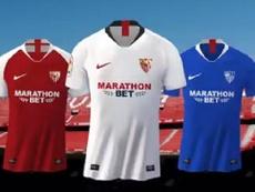 El Sevilla presentó sus camisetas. Captura/SevillaFC