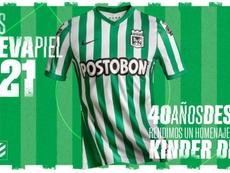 Nacional presentó su camiseta para el año 2021. Twitter/nacionaloficial