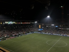 NWSL side Portland Thorns played despite the dangerous air quality in their stadium. Twitter/Portlan