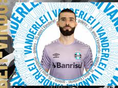 O Grêmio oficializou a contratação do goleiro Vanderlei. Twitter @Gremio