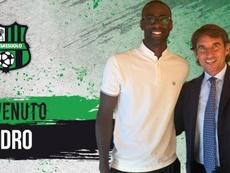 Obiang es nuevo jugador del Sassuolo. Twitter/SassuoloUS