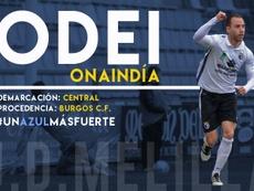 Odei Onaindia se convierte en una de las últimas incorporaciones del Melilla. UDMelilla