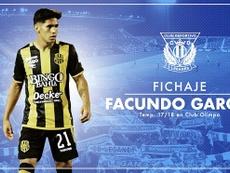 Facundo García firmó hasta 2023. Twitter/CDLeganes