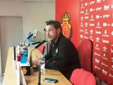 El técnico del Mallorca se mostró enfadado por la derrota. RCDMallorca