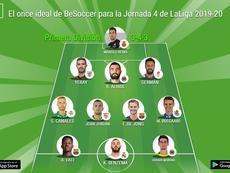 El once ideal de BeSoccer para la Jornada 4 de LaLiga 2019-20. BeSoccer