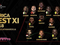 Le onze idéal de la CAF de 2018. CAF