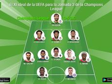 El XI ideal de la UEFA para la Jornada 3 de la Champions League. BeSoccer