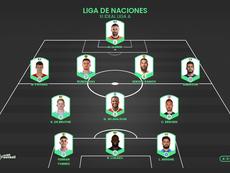 El mejor XI de la Liga de las Naciones. ProFootballDB